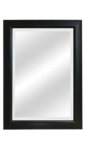 Black Wood Grain Beveled Mirrors