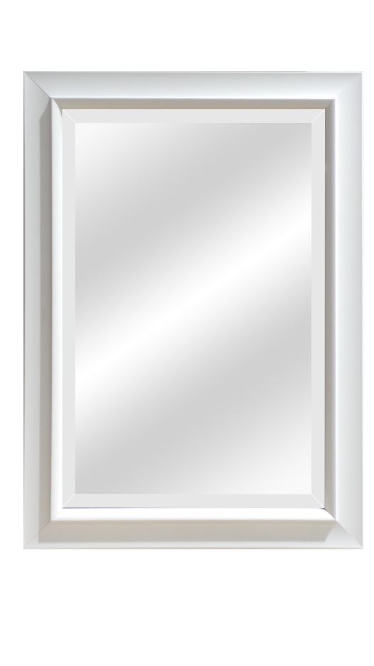 White Beveled Mirrors