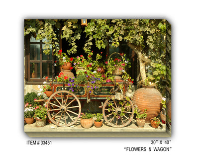Flowers & Wagon
