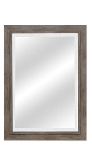 Weathered Gray Wood Beveled Mirrors