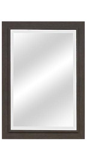 Brushed Gray Weathered Wood Beveled Mirrors