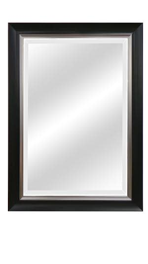Black with Silver Inner Edge Beveled Mirrors