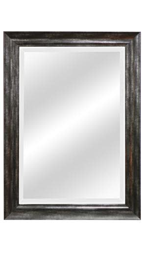 Brushed Silver Leaf Beveled Mirrors
