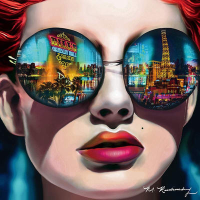 "Shades of Vegas 3D Lenticular Art by Rudinsky 28""W x 28""H"