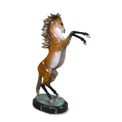 "Horse with Marble Base 17""L x 8""W x 25.5""H"