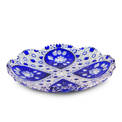 "Blue Plate 100 London with Flower 11.5"" Diameter"