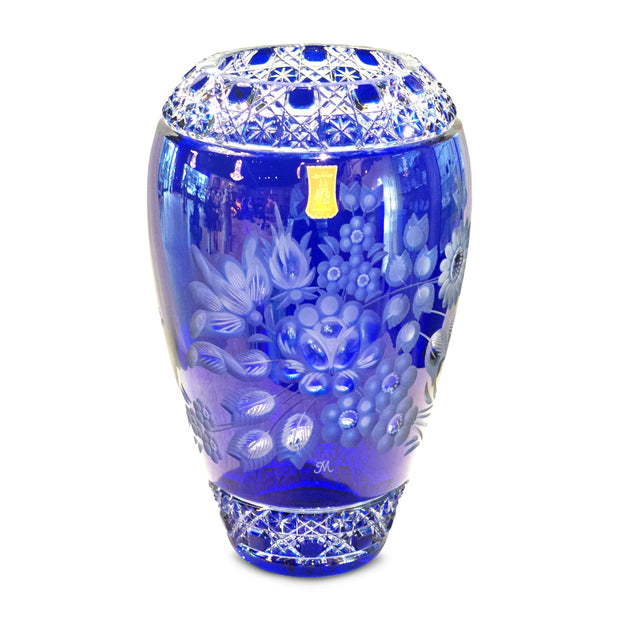 "Blue Vase 1378 Meissen Flower with London 12"" High"