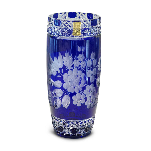 "Blue Vase 504 Meissen Flower with London 8"" High"