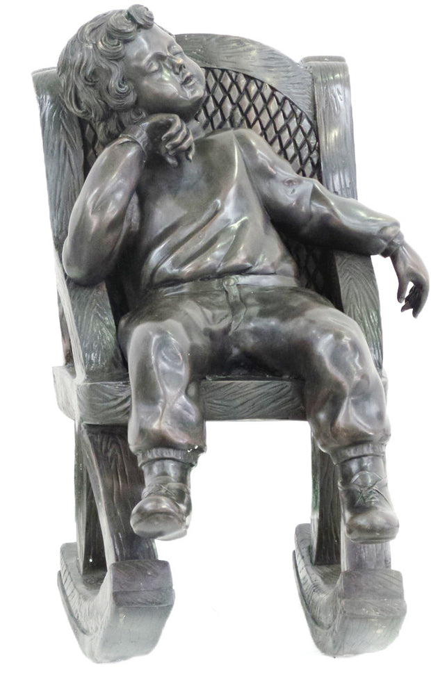 "Boy Sitting on Chair 22""L x 16""W x 39""H"