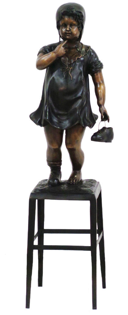 "Girl Standing on Chair 16""L x 13""W x 60""H"
