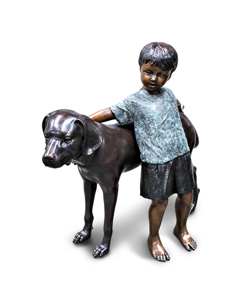 "Boy with Dog 12""L x 40.5""W x 36""H"