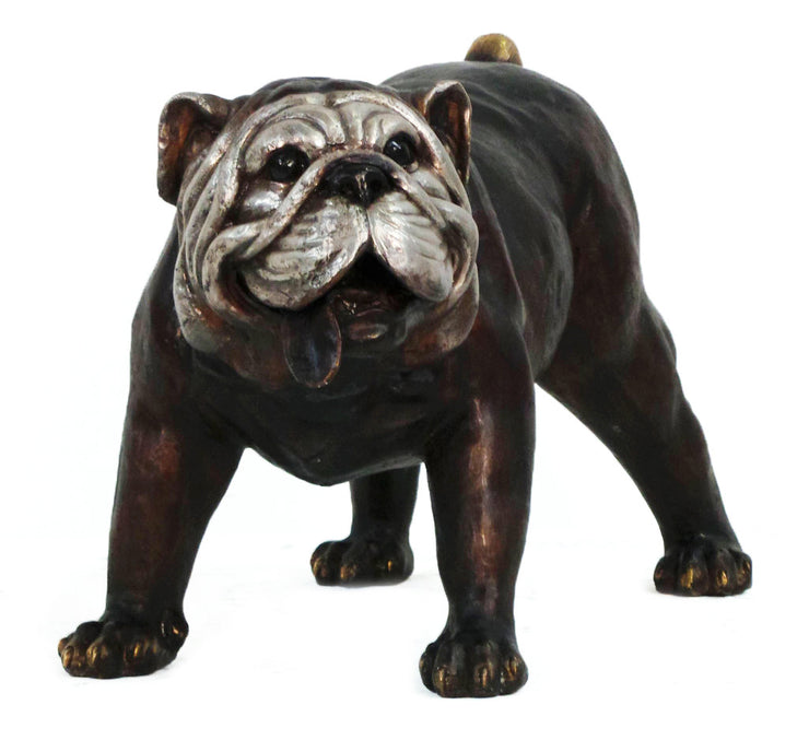 "Bulldog Two Tone Brown with Silver 23""L x 13""W x 15""H"