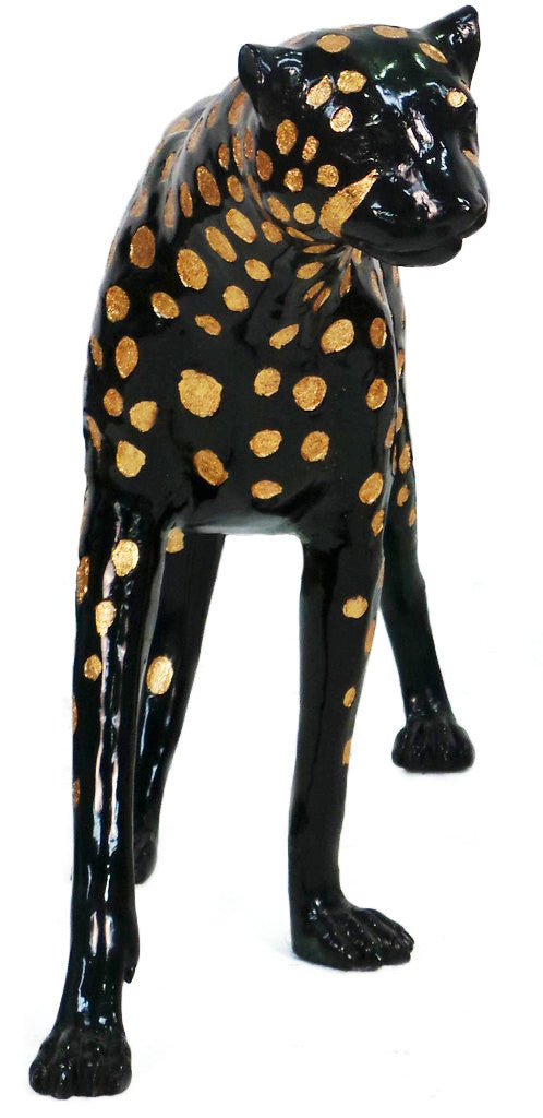 "Cheetah Head Up/Left - Special Patina 16""L x 60""W x 33""H"