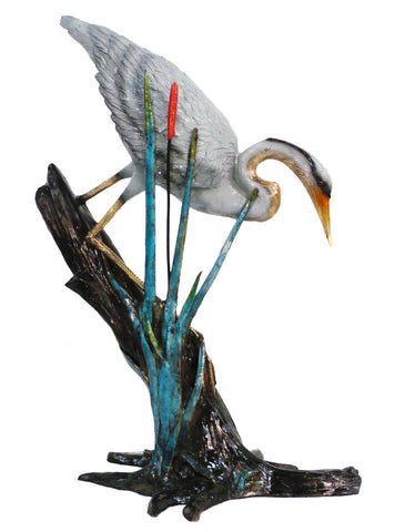 "Crane on Tree - Special Patina 23""L x 37""W x 38""H"