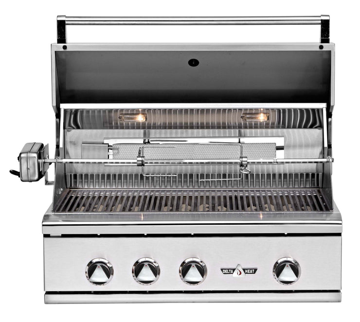 "32"" Delta Heat Gas Grill with Infrared Rotisserie"