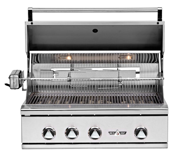 "32"" Delta Heat Gas Grill with Infrared Rotisserie, Nat."