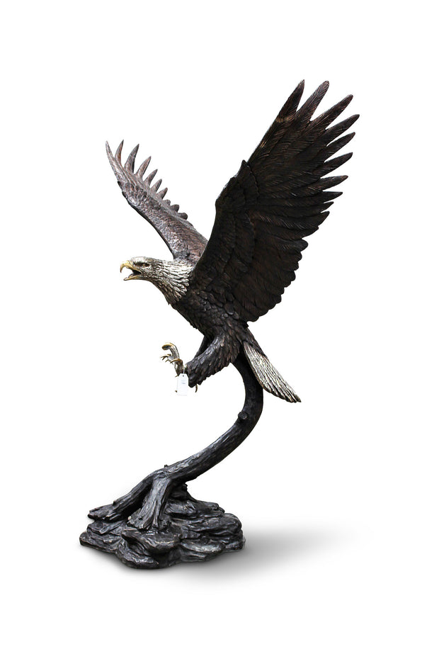 "Eagle on Tree No. 1 (Large) 66""L x 39""W x 76""H"