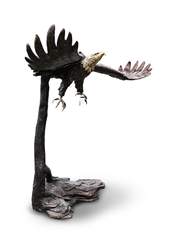 "Eagle on Tree No.3 (Large) 77""L x 39""W x 66""H"