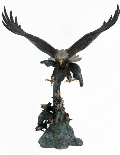 "Eagle Catching Fish 60""L x 70""W x 84""H"