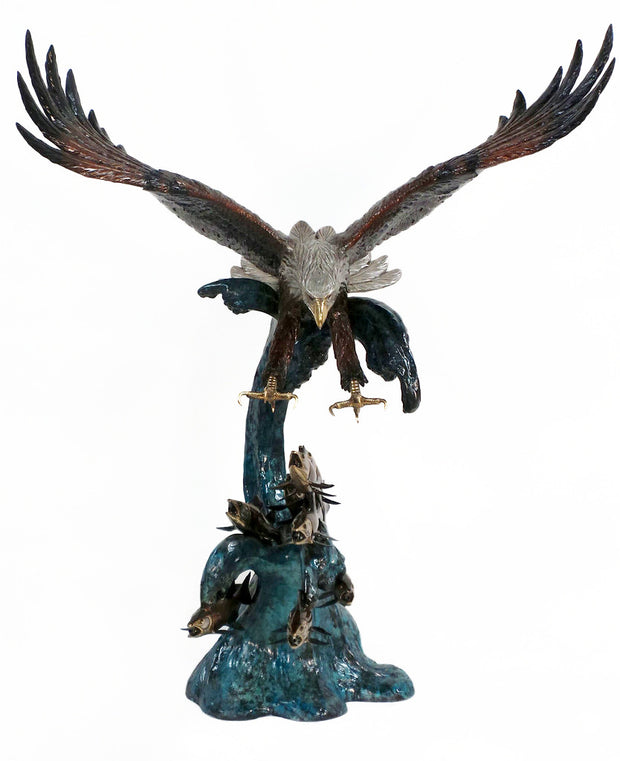 "Eagle Catching Fish - Special Patina 63""L x 46""W x 82""H"