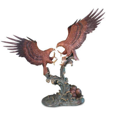 "Eagles Fighting 64.5""L x 84""W x 88""H"