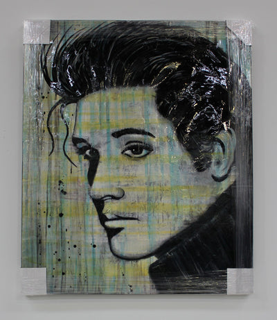 "Elvis Original by Vincent - 45""W x 54""H"