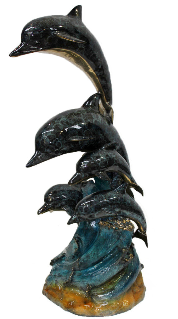 "Five Dolphins - Special Patina 35""L x 35""W x 65""H"