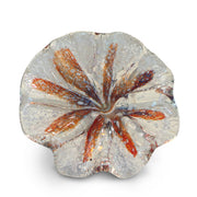 Orange Art Glass Flower with White Spots