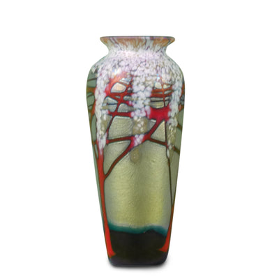 "Gold Cherry Blossom Vase Small 4""H x 2 1/2""D"
