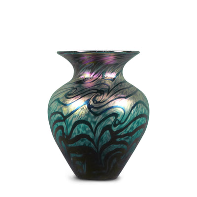 "Heart Vase Van Gogh Sunset - 7"" High"