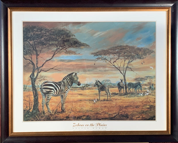 Zebras on the Plains Framed Print