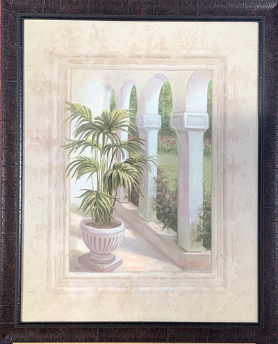 Ferns & Archways Framed Print