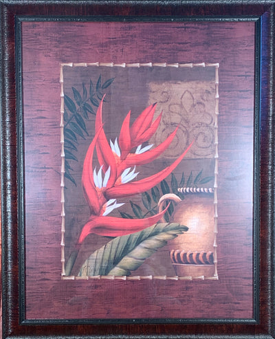 Eastern Red Flower Framed Print