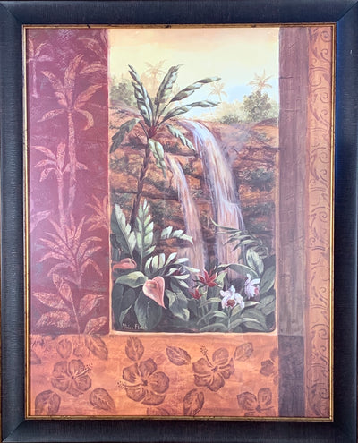 Tropical Waterfall I Framed Print