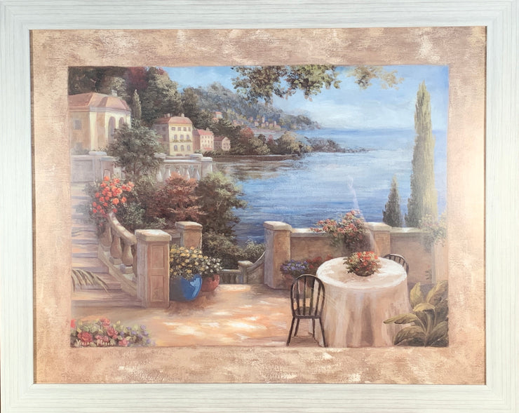 Cafe on the Shore Framed Print