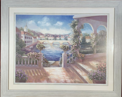 Archways on the Canal Framed Print