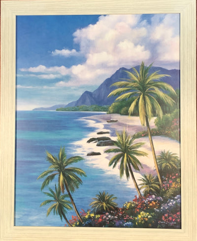 Tropical Mountains Framed Print