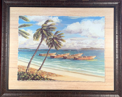 Boats at the Island Framed Print