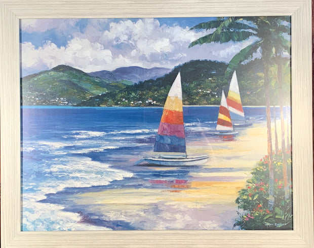 Sailboats in the Water Framed Print