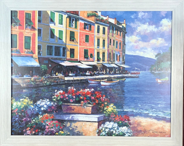 Cafe on the Canal Framed Print
