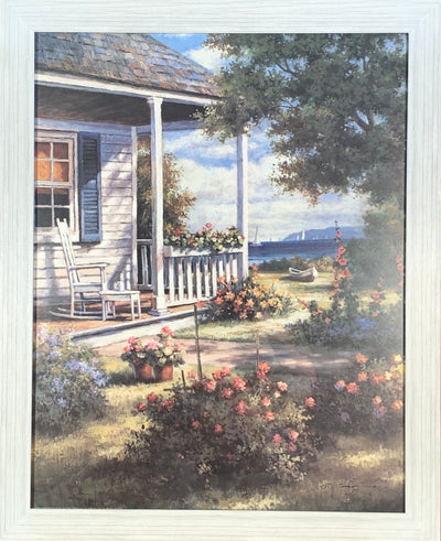 Back Porch Rocking Chair Framed Print