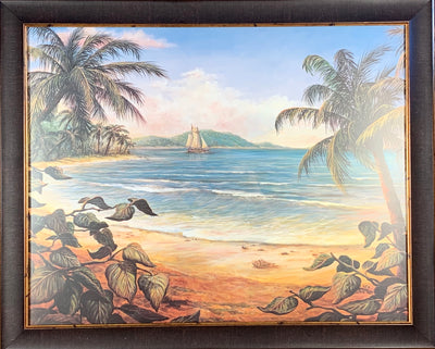 Ship in the Tropics Framed Print