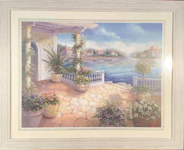 Down to Shore Framed Print