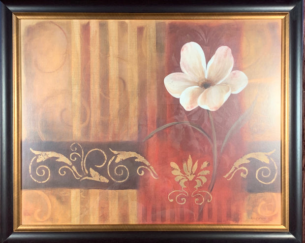 White Floral Framed Print