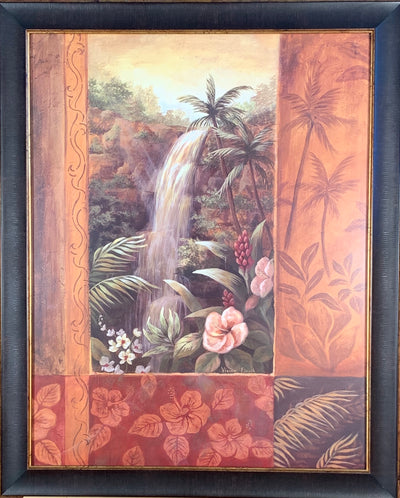 Tropical Waterfall II Framed Print