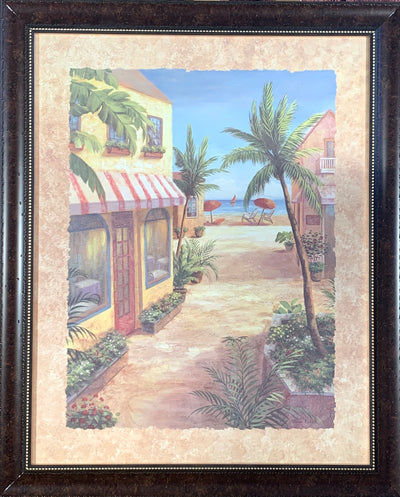 Down the Shore Framed Print