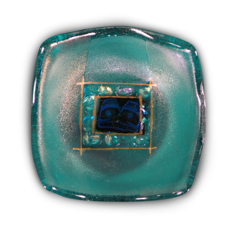 Jewelry Bowl with Tiki, Teal