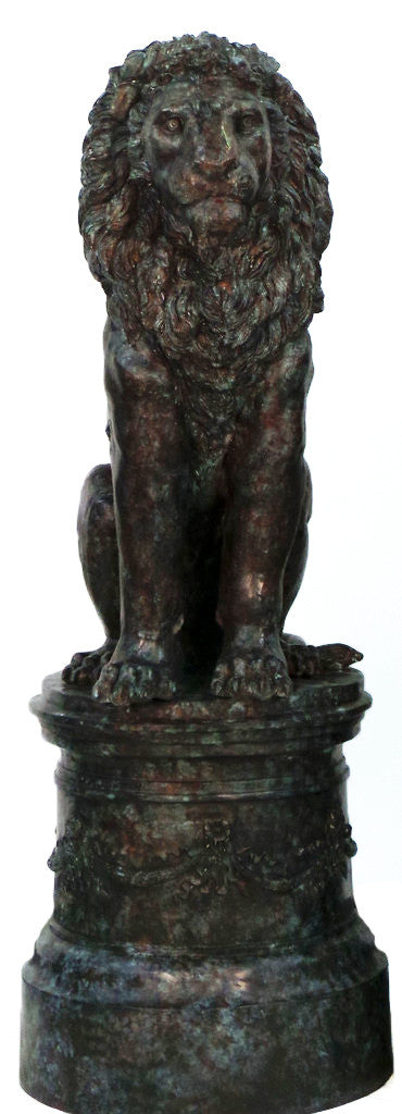 "Lion with Base - Left 22""L x 31""W x 65""H"