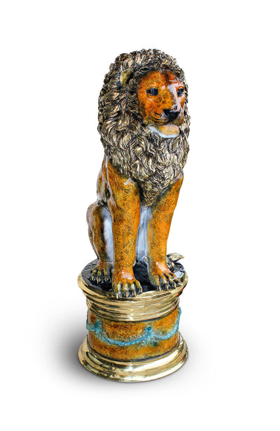 "Lion with Base Special Patina - Right 22""L x 31""W x 65""H"