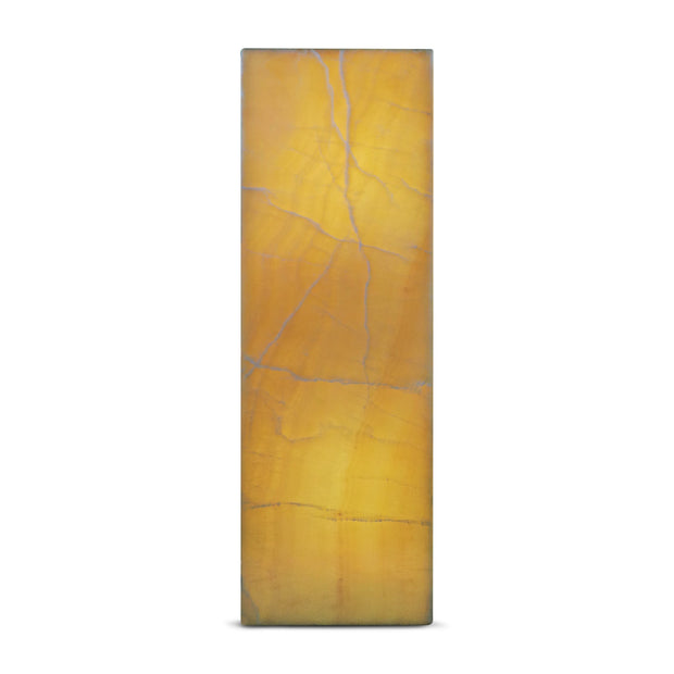 "Onyx Square Pedestal with Lights - Orange 12""L x 12""W x 40""H"